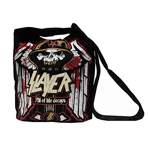 Slayer Metal Band Graphic Tote Messenger Bag - Messenger Band