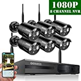 Cheap 【2019 Update】 OOSSXX HD 1080P 8-Channel Wireless Security Camera System,6 pcs 1080P 2.0 Megapixel Wireless Weatherproof Bullet IP Cameras,Plug Play,70FT Night Vision,P2P,App, No Hard Drive