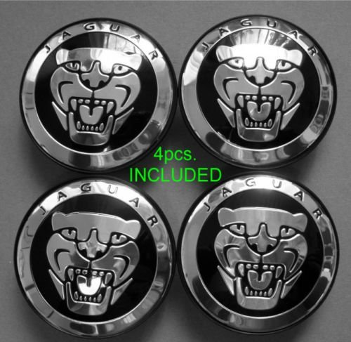 4 Jaguar S Type X Type Xj8 Xk8 Xkr Wheel Center Cap Black (Jaguar Type Xj Set)