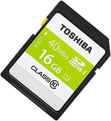 Amazon.com: Toshiba 16 GB SD SDHC UHS-I 40 MB/s Clase 10 de ...