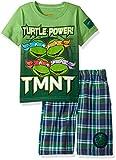 Nickelodeon Boys' 2 Piece Teenage Mutant Ninja Turtles Tee and Plaid Short Set