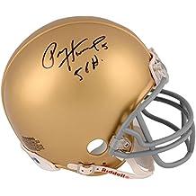 "Paul Hornung Notre Dame Fighting Irish Autographed Gold Mini Helmet with""56 Heisman"" Inscription - Fanatics Authentic Certified"