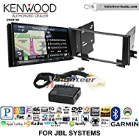 Volunteer Audio Kenwood DNX874S Double Din Radio Install Kit with GPS Navigation Apple CarPlay Android Auto Fits 2003-2009 Toyota 4Runner with Amplified System