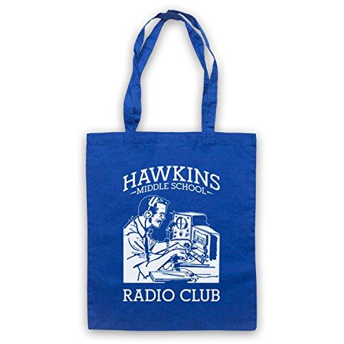 Stranger Things Hawkins Middle School Radio Club Bolso Azur Real