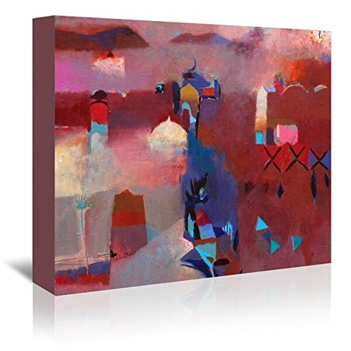 Americanflat 'Pink Moroccan Haze' Gallery Wrapped canvas Artwork