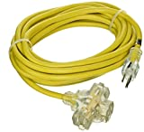 ATE Pro. USA 70051 Extension Cord, 25', 12 Gauge, 3-Prong
