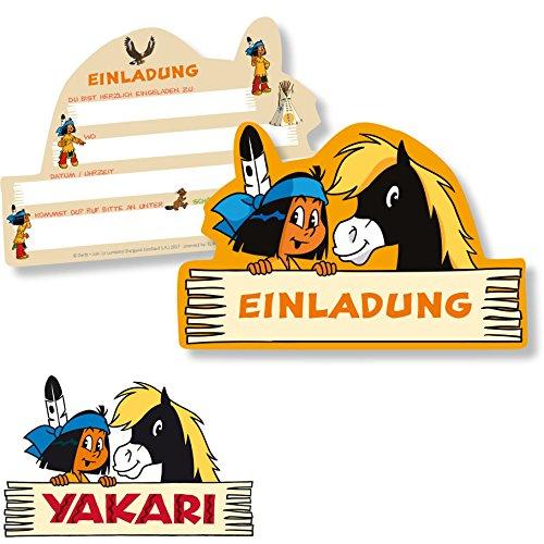 6 Einladungskarten * YAKARI * Für Kinderparty Und Kindergeburtstag Von  DH Konzept // Indianer Indianerjunge Sioux Kleiner Donner Einladungen  Invites Party ...