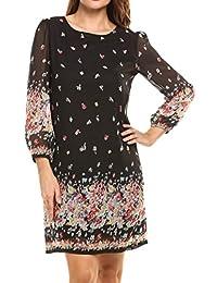 Beyove Bohemian Vintage impreso estilo étnico suelto túnica casual vestido de mujer