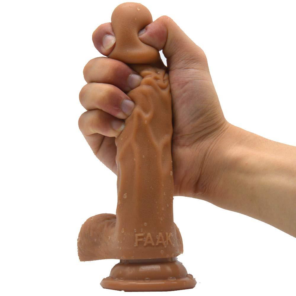 Consolador Realista, Juguete Sexual Taza 4 Mujer 19 Cm Realidad Consolador Chupar Taza Sexual Masculino Lápiz Silicona Hembra 08ad4a