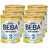Nestlé BEBA OPTIPRO 3, Folgemilch ab dem 10. Monat, Baby-Nahrung als Pulver, im Anschluss an das Stillen, bei angemessener Beikost, 6er Pack (6 x 800g Dose)