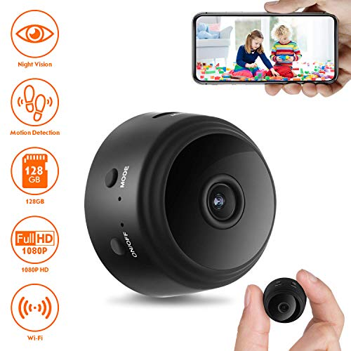 Mini Spy Camera Wireless Hidden Nanny Cam with 1080p HD Recorder and Night Vision for Home Office Indoor Outdoor ()