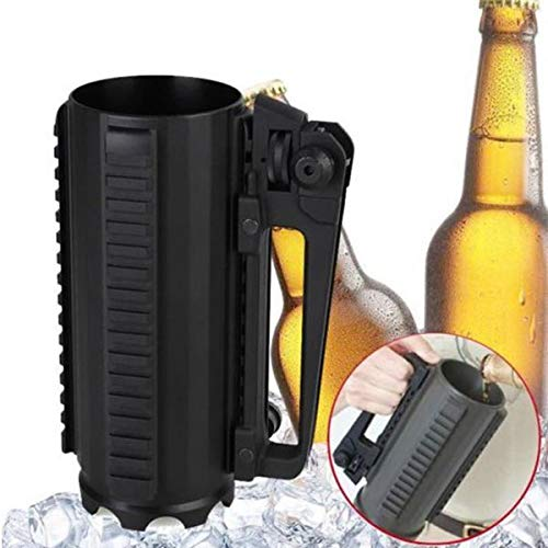SODIAL Multifunction Aluminum Alloy Carry Outdoor Sport Solid Beer Cup with Rail Battle Combat Mug Cup Detachable