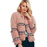 Clearance Womens Coat Cinsanong Ladies Tassel Jacket Warm Winter Artificial Wool Parka Fashion Outerwear Clothes