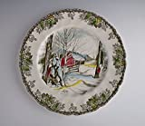 Johnson Brothers China FRIENDLY VILLAGE Lg Dinner Plate(s) Multi Sugar Maples EX!