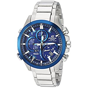 Casio Men's 'Edifice Solar Connected' Quartz Stainless Steel Casual Watch, Color:Silver-Toned (Model: EQB-501DB-2ACF) 10