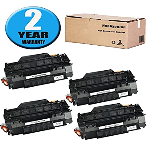 Compatible Q5949A (49A) Toner Cartridge 4 Pack Black by Hobbyunion for LaserJet 1320 1320N 1320NW 1320T 1320TN 1160 1160 1160LE 3390 - P2015x Laser Printer