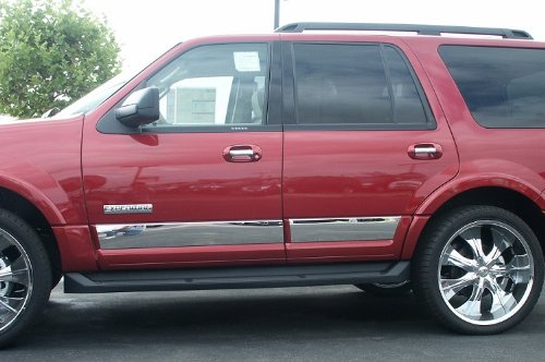 Made in USA! Works with 2007-2017 Ford Expedition EL Stainless Steel Rocker Panel Trim 6