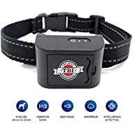 [NEW 2018 HUMANE] Bark Collar Vibration Mini for Small, Medium Dogs with NEW UPGRADED Smart Chip - Best Intelligent Dog Anti-Barking Collar w/Beep/Vibration Modes for Dogs 10-90 LBS