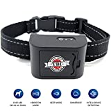 [New 2019 Humane] Mini Bark Collar Vibration for Small, Medium Dogs up to 80 LBS with New Upgraded Smart Chip - Best Intelligent Dog Anti-Barking Collar w/Beep/Vibration Modes for Dogs 5-80 LBS