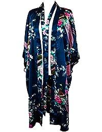 Kimono 16 Colours Peacock Premium Dressing Gown Robe Light Weight Lounge wear