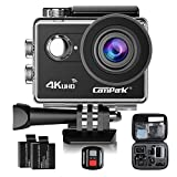 Action Camera Campark ACT73R 4K WIFI Waterproof Cam 2 Inch LCD Screen Underwater Camcorder with 170 Degree Wide Angle,Remote Control 2 Pcs Rechargeable Batteries and Portable Package