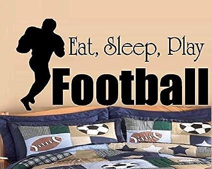 Amazon BestPricedDecals EAT SLEEP PLAY FOOTBALL 2 DECAL