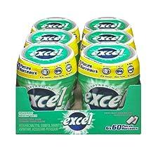 Excel Sugar-Free Gum, Spearmint,  60pc Bottle, 6 Count