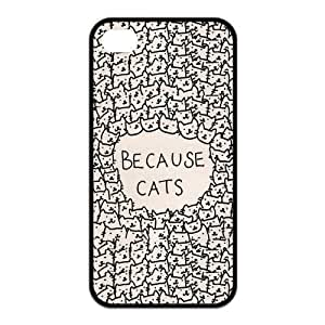 Cool Cup Design, Funny Because Cats Apple For HTC One M9 Case Cover or4s Best Case (Black & White)