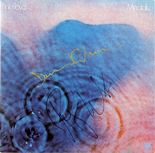 Pink Floyd Roger Waters & David Gilmour Signed Meddle Album Cover W/ Vinyl BAS