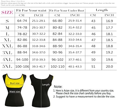 Women's Hot Sweat Slimming Neoprene Shirt Vest Body Shapers for Weight Loss Fat Burner Tank Top 7