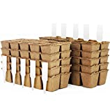Peat Pot Seedling Starter Trays | Seed Germination Kit - Organic...