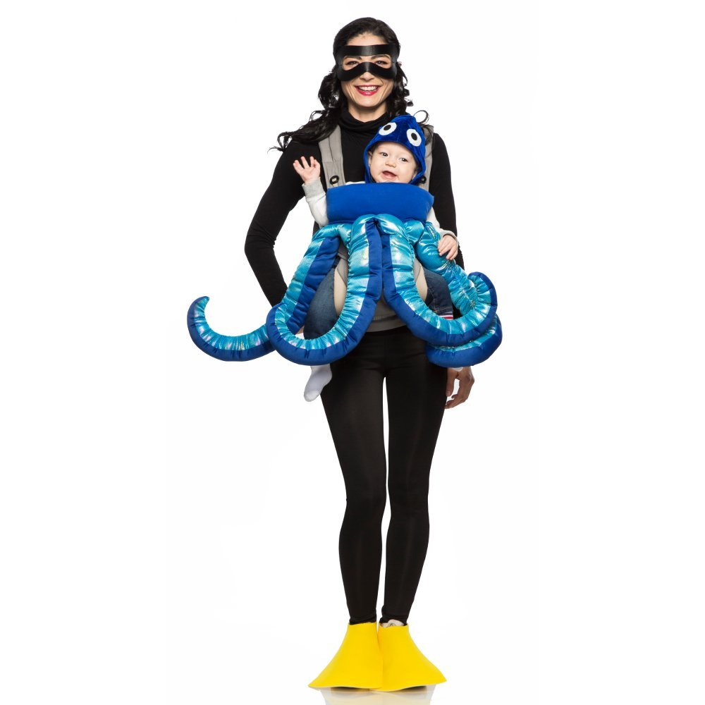 Seeing Red Scuba Diver and Octopus Mommy & Me Costume