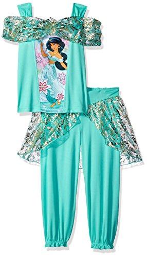 Disney Little Girls' Princess Jasmine Fantasy 2-Piece Set, Seafoam Green, 4