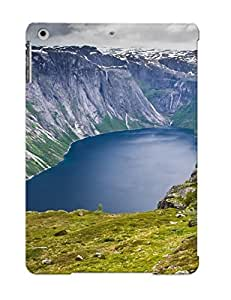 Inthebeauty Ipad Air Hybrid Tpu Case Cover Silicon Bumper Ringedalsvatnet Lake Norway
