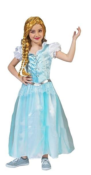 eisprinzessin elsa kostum fur kinder gr 104 wunderschones madchenkostum fur theater karneval oder