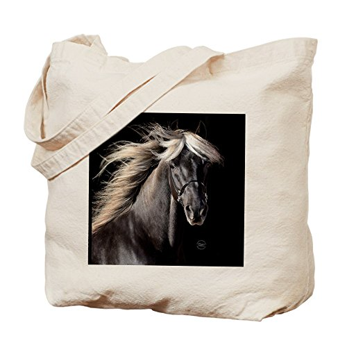 CafePress - Choco_Horse_Rnd - Natural Canvas Tote Bag, Cloth Shopping - The Shopping Citadel