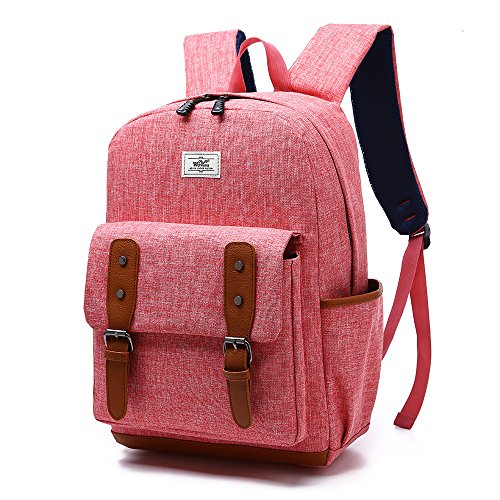 SCIEN Lightweight School Backpack Student Canvas Laptop Bag Travel Shoulder (Kids Laptop Bags)