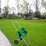 Hose Cart Garden Reel Watering Planting Portable Trolley Pipe Holder Compact Stable Convenient Robust Guide Anti-drip Device Water Plain Park Plant Flowers Storage Container
