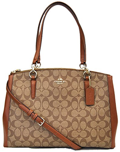 Leather Carryall Christie in Khaki Coach Crossgrain Saddle zSwRx