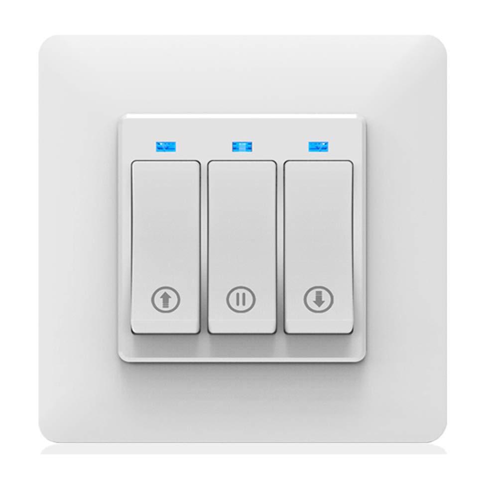 Control Remoto por Voz Funci/ón de Tiempo Bot/ón Mec/ánico Interruptor de Persiana Enrollable El/éctrica Trabaja con Alexa//Google Home ALLOMN Inteligente Wifi Interruptor de Cortina Smart Life//Tuya APP