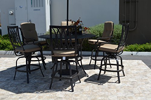 - Tuscany Cast Aluminum Powder Coated 7pc Bar 60