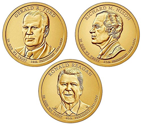 2016 P presidential Dollar Philadelphia mint 3 coins Uncirculated