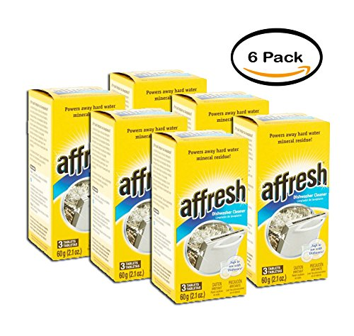 PACK OF 6 - affresh Dishwashing Cleaner, 3 count, 2.1 oz by Affresh