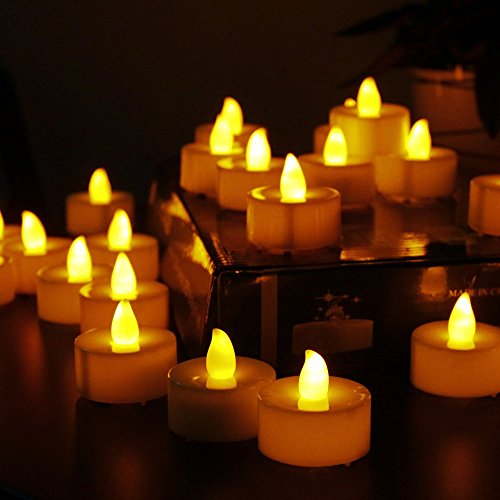 Flameless Candles: LED Tea Light Battery Powered Candles  (24 Pack)