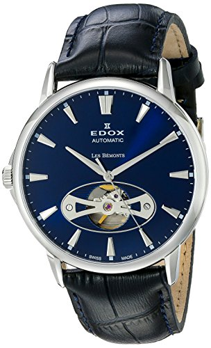Edox-Mens-85021-3-BUIN-Les-Bemonts-Analog-Display-Swiss-Automatic-Blue-Watch