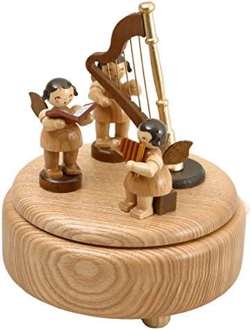 La caja de música - 3 ángeles sin pintar - sin pintar y harp la ...