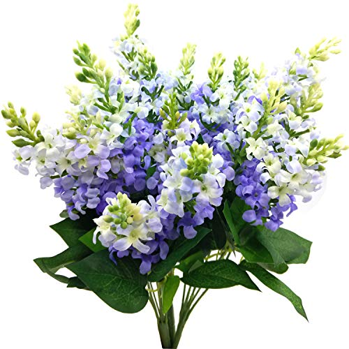 - Artificial Fake Flowers Silk Plastic Plant Arrangement for Home Indoor Outdoor Garden Wedding Table Vase Decorations Faux Snapdragon Flower,3 Bouquets (Lilac)