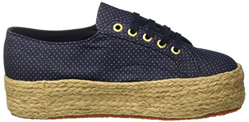 Sneakers Adulte Dots Superga Mixte Blue ~Fabricshirtropew Bleu Basses 2790 Indigo PqPwpzaE