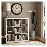 Better Homes and Gardens 9-cube Organizer Storage Bookcase Bookshelf Cabinet Divider (White)
