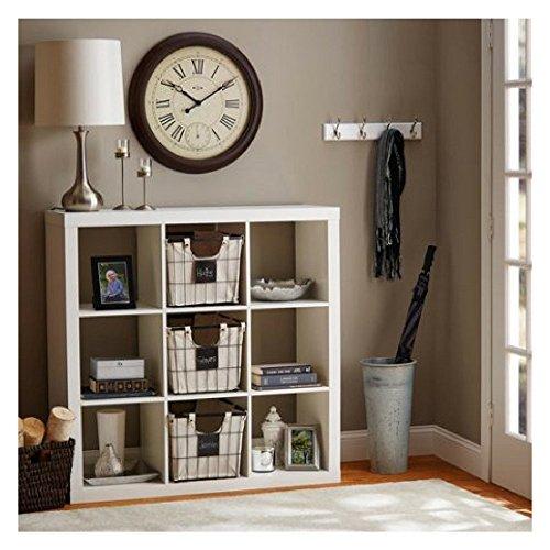 Better Homes and Gardens 9-cube Organizer Storage Bookcase Bookshelf Cabinet Divider (White) by Better Homes and Gardens